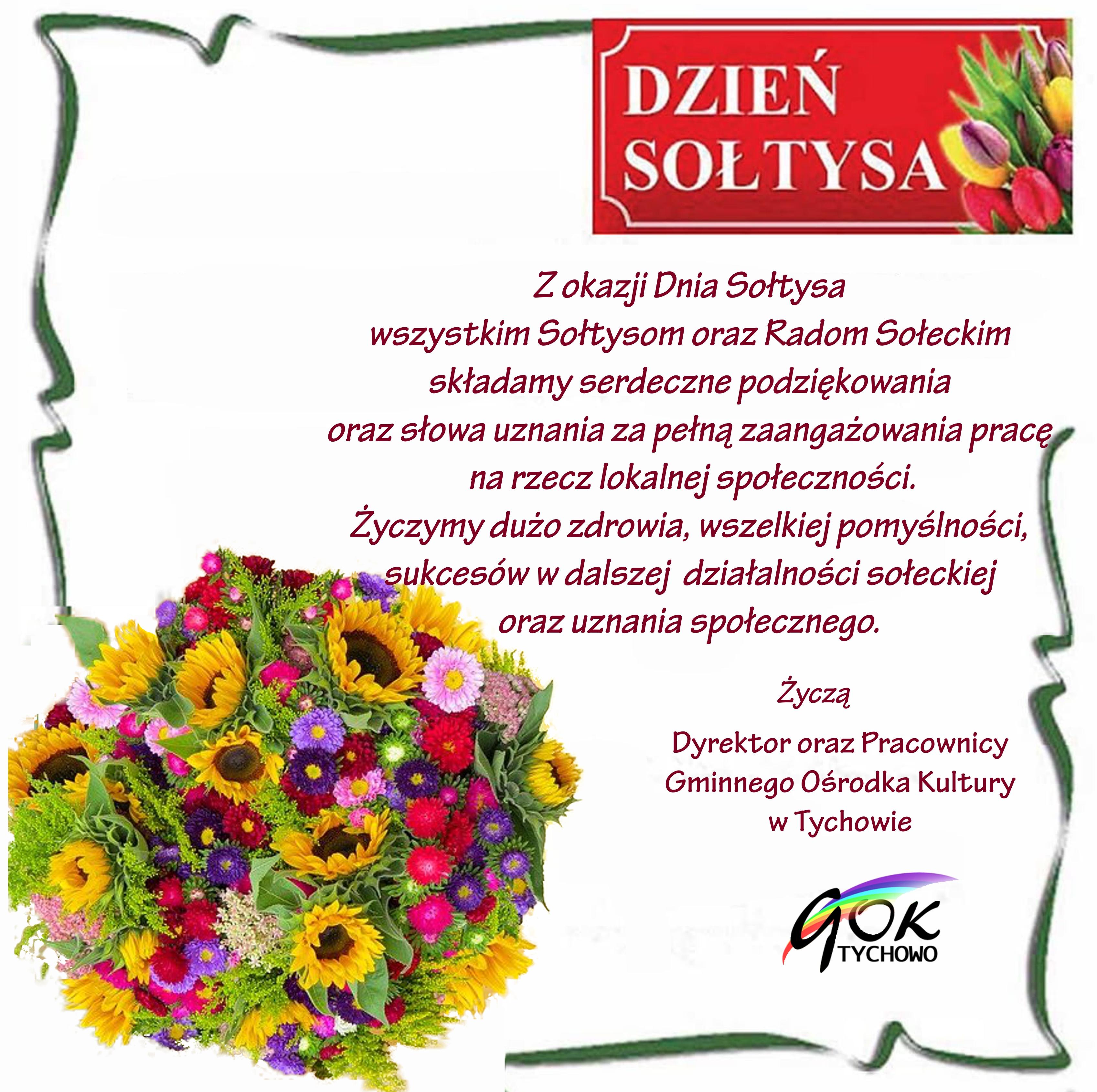 Życzenia dla wszystkich Sołtysów oraz Rad Sołeckich z okazji Dnia Sołtysa.